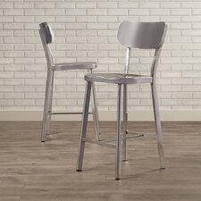 Rizzuto Stainless Steel Dining Chair (Set of 2)