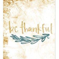 'Glitter Be Thankful' Graphic Art