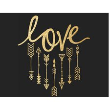 'Gold Love and Arrows' Graphic Art
