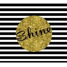 'Black, White and Gold Shine' Graphic Art