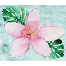 'Single Summer Pink Flower' Graphic Art