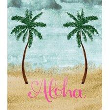 'Aloha Double Palm Tree' Graphic Art