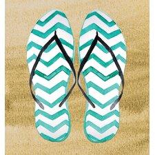'Flip Flop In Sand' Graphic Art