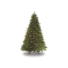 9' Green Artificial Christmas Tree with 1000 UL Clear Lights with Stand