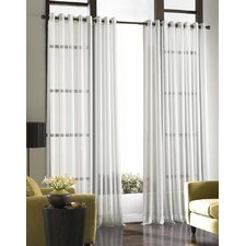 Soho Voile Solid Sheer Grommet Single Curtain Panel