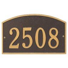 Legacy 1-Line Wall Address Plaque