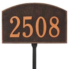 Legacy 1-Line Lawn Address Sign