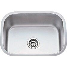 "23.5"" x 17.75"" Single 18 Gauge Stainless Steel Undermount Utility Sink"