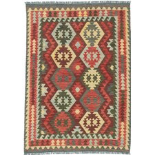 Sivas Flat Woven Red / Yellow Area Rug