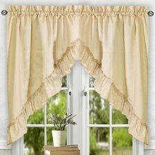 "Casarina 60"" Ruffled Swag Curtain Valance"