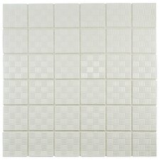 "Passero 1.75"" x 1.75"" Porcelain Mosaic Tile in White"