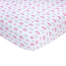 Elephant Sateen Crib Fitted Sheet