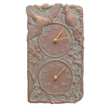 Cardinal Indoor/Outdoor Wall Clock and Thermometer