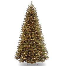 North Valley 7.6' Green Spruce Artificial Christmas Tree with 550 Clear Lights