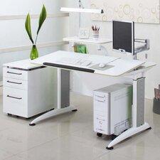 Elite Parker Writing Desk with Bookshelf