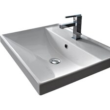 "ML 24"" Wall Mounted Bathroom Sink with Overflow"