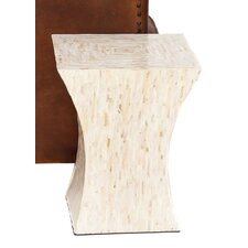 Bernard Mother-of-Pearl Inlay Tapered Accent Table Stool