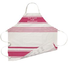 Diner Stripe 100% Cotton Kitchen Apron