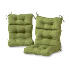 Outdoor High Back Chair Cushion (Set of 2)