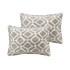 Barna Cotton Blend Throw Pillow (Set of 2)
