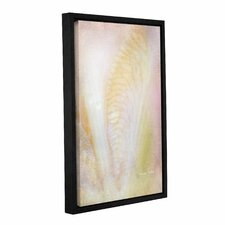 Dew Drops on Iris Framed Graphic Art on Gallery Wrapped Canvas