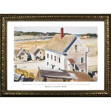 Museum Masters 'House by 'Squam River, Gloucester Cape Ann Massachusetts, 1926' by Edward Hopper Framed Painting Print