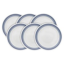 "Vintage Charm Spot on 8.5"" Appetizer Plate (Set of 6)"