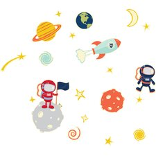 21 Piece Glow in Space Peel and Stick Decal Set