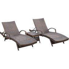 Peyton 3 Piece Chaise Lounge Set