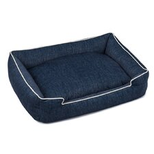 Plush Velour Lounge Dog Bed