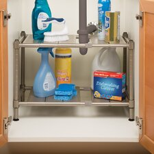 Expandable Sink Shelf with Perforated Panel
