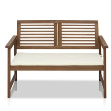Juna Meranti Garden Bench with Cushion