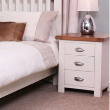 Ascot 3 Drawer Bedside Table