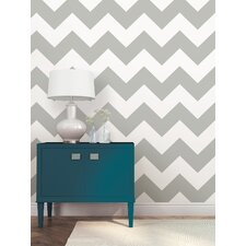 Ziggy 5.5m L x 52cm W Chevron and Herringbone Roll Wallpaper