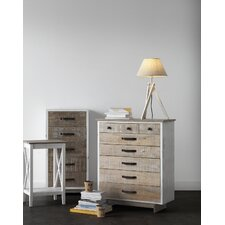 Wooden Rustic Front 8 Drawer Chest of Drawers