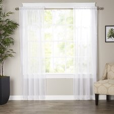 Wayfair Basics Solid Sheer Curtain Panels (Set of 2)