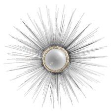 Starburst silhouette Metal Fisheye Wall Mirror