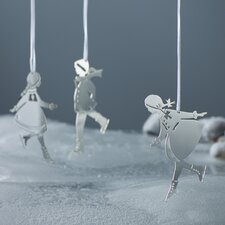 3 Piece Skating Children Hanging Figurine Set