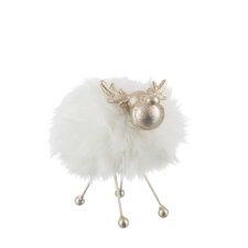 Reindeer Furry Figurine (Set of 2)