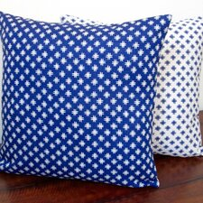 Geometric Crosshatch Linen Reversible Modern Throw Pillow