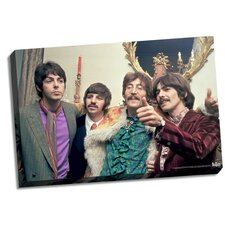 The Beatles 'Thumbs Up' Photographic Print on Wrapped Canvas