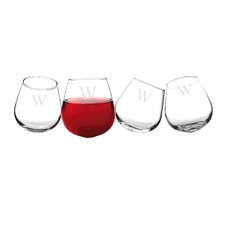 Personalized 12 Oz. Wine Tumbler (Set of 4)