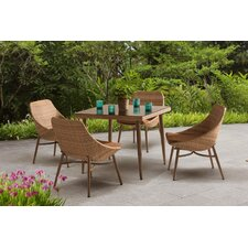 Century 5 Piece Dining Set with Cushions
