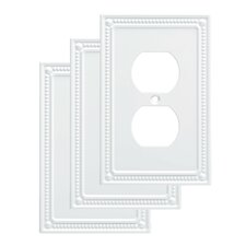 Classic Beaded 1 Gang Duplex Wall Plate (Set of 3)