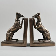 Whippet Cold Cast Bookends (Set of 2)
