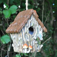 Woodland Tree Trunk Hanging Bird House