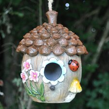 Floral Acorn Hanging Bird House