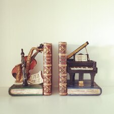 Classical Musical Instruments Shelf Tidy Bookends (Set of 2)