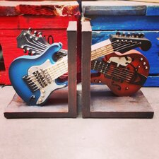 Guitar Shelf Tidy Bookends (Set of 2)
