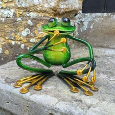 Animal Squatting Metal Garden Frog Statue